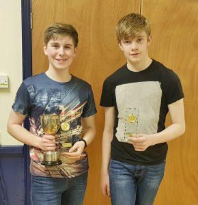 U18 winner D Agar and runner up M Guise